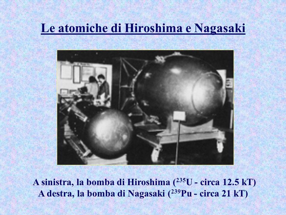 Le atomiche di Hiroshima e Nagasaki