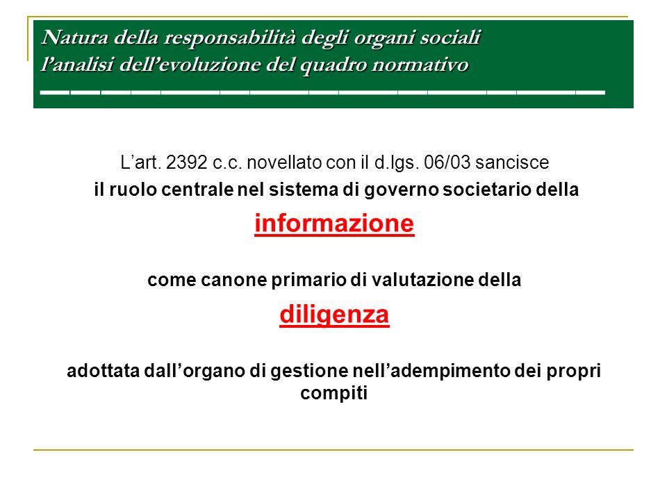 informazione diligenza