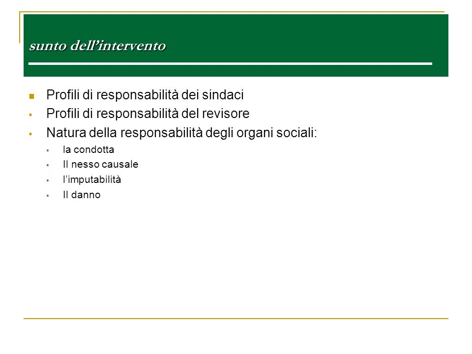 sunto dell'intervento ———————————————————————