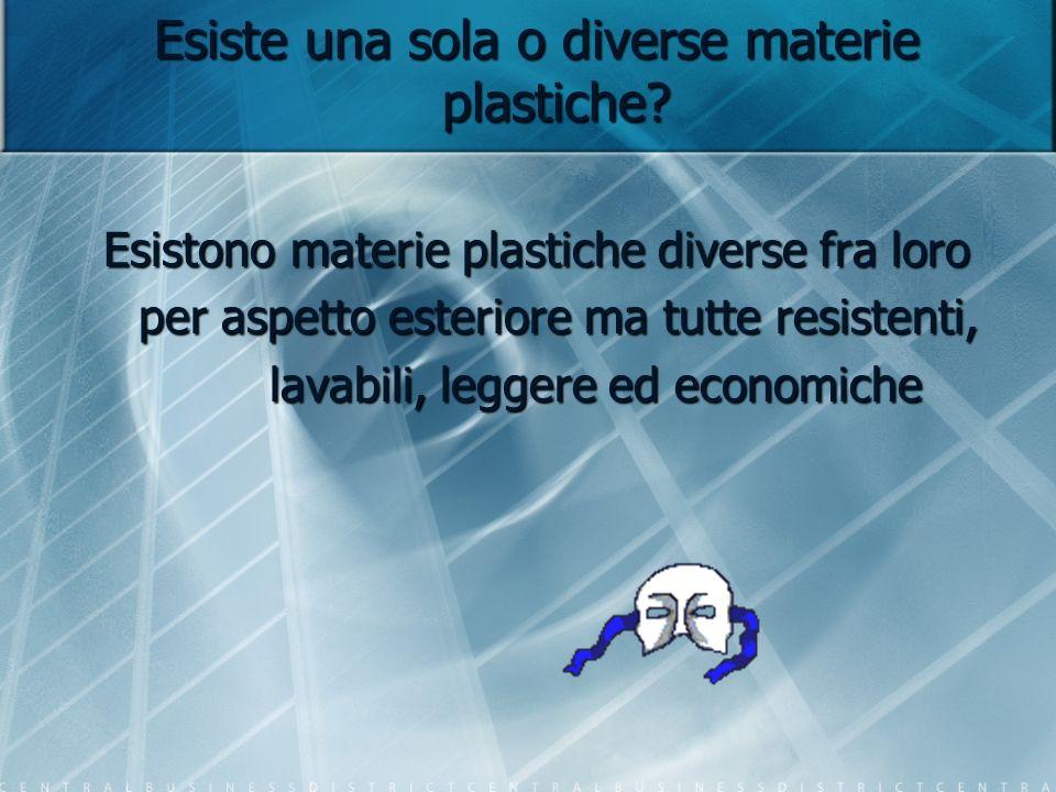 Esiste una sola o diverse materie plastiche