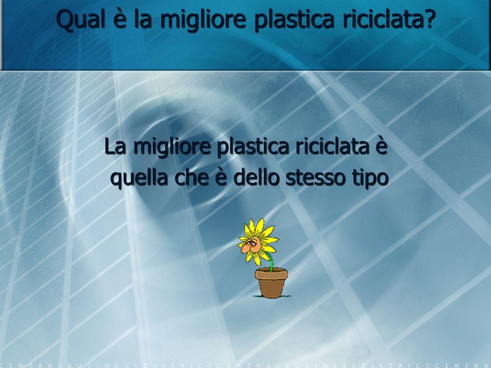 Qual è la migliore plastica riciclata