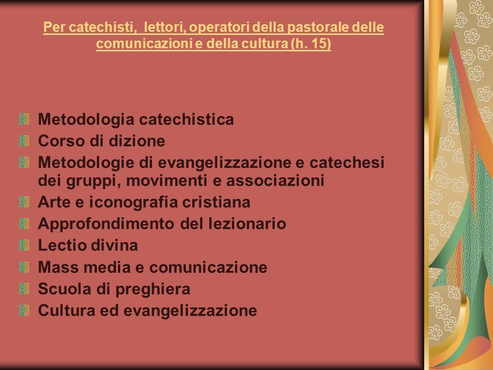 Metodologia catechistica Corso di dizione