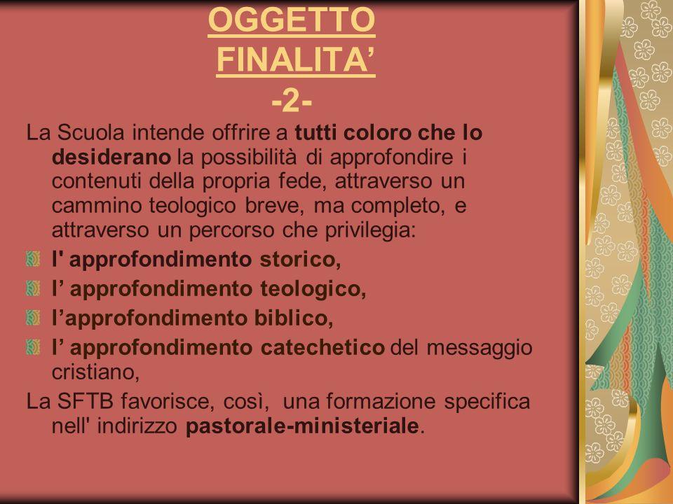 OGGETTO FINALITA' -2-