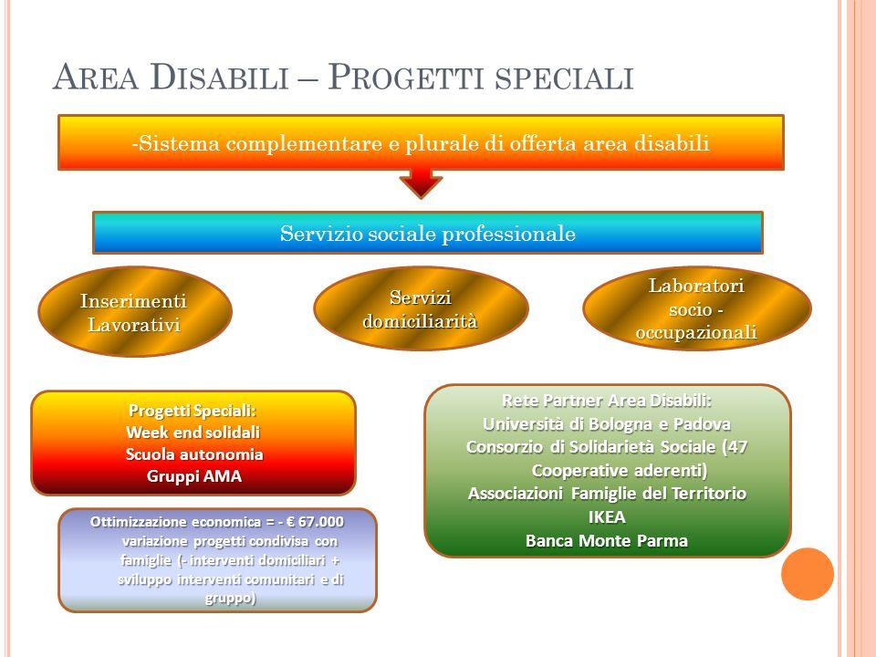 Area Disabili – Progetti speciali
