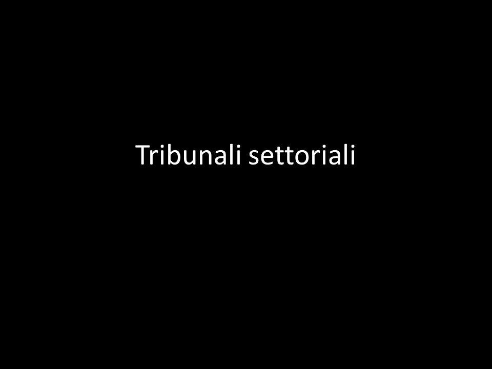Tribunali settoriali