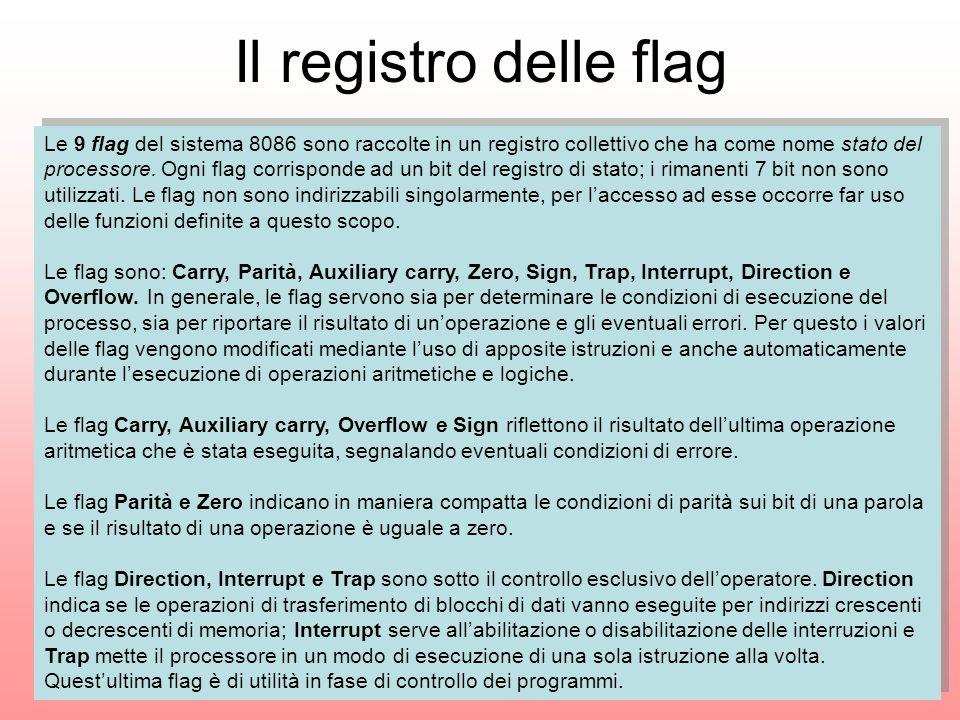Il registro delle flag
