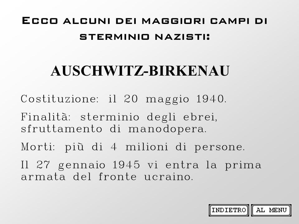 Ecco alcuni dei maggiori campi di sterminio nazisti: