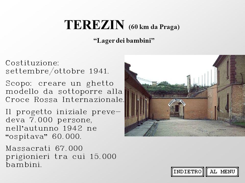TEREZIN (60 km da Praga) Lager dei bambini