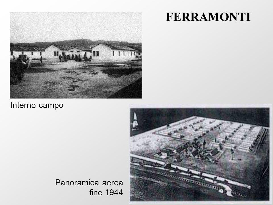 FERRAMONTI Interno campo Panoramica aerea fine 1944