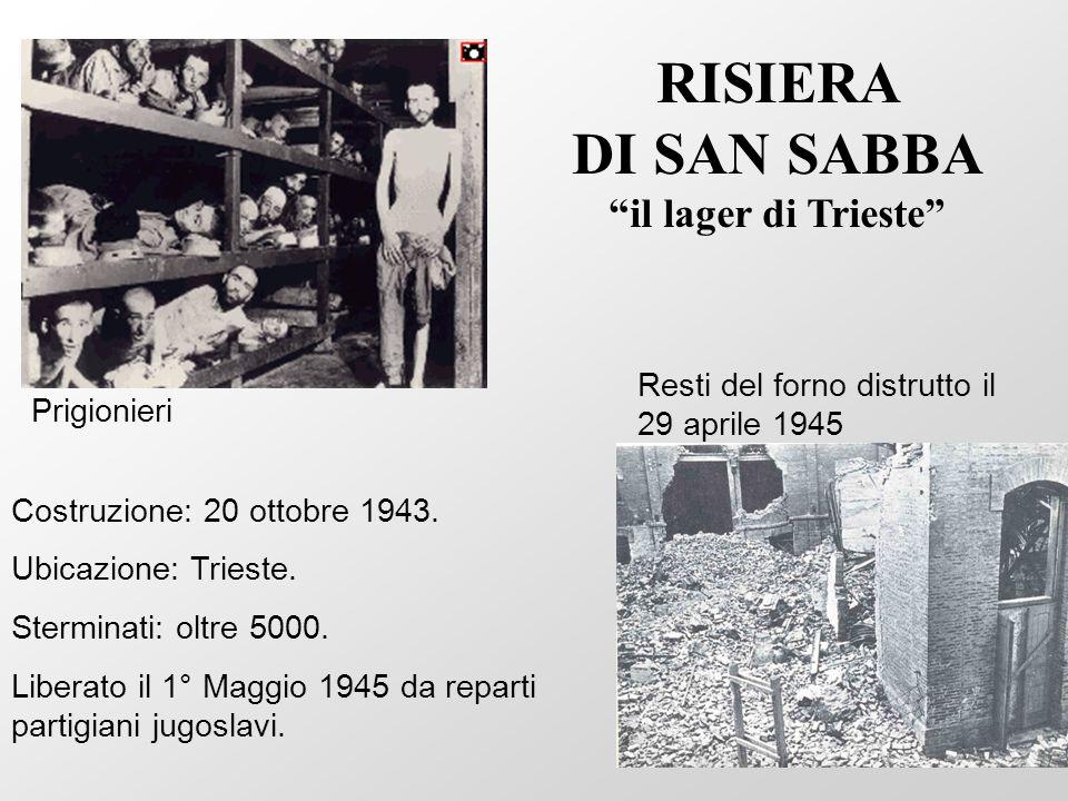 RISIERA DI SAN SABBA il lager di Trieste