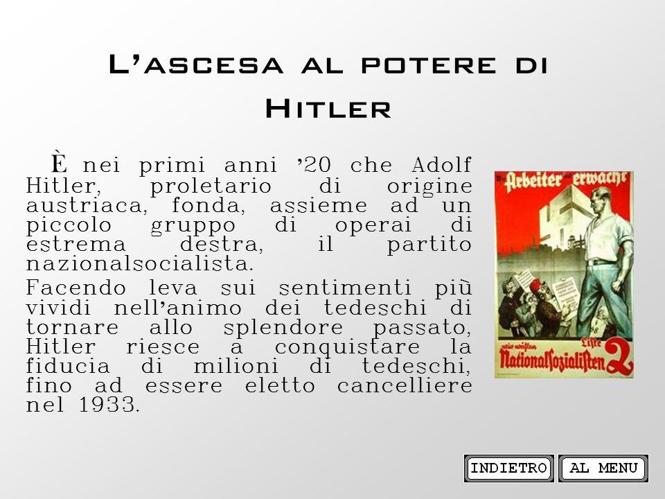 L'ascesa al potere di Hitler
