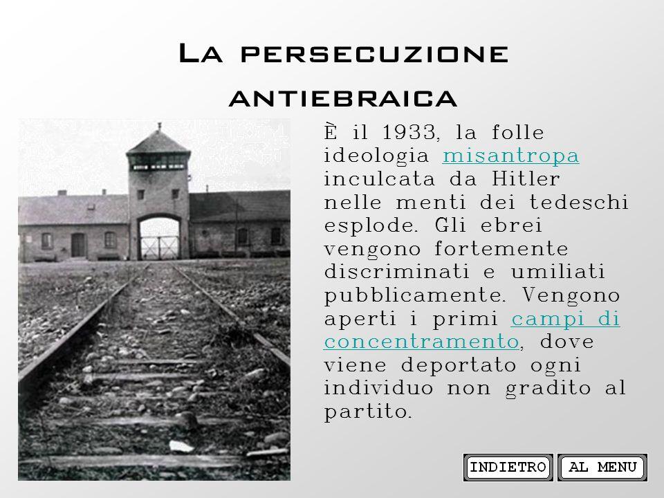 La persecuzione antiebraica