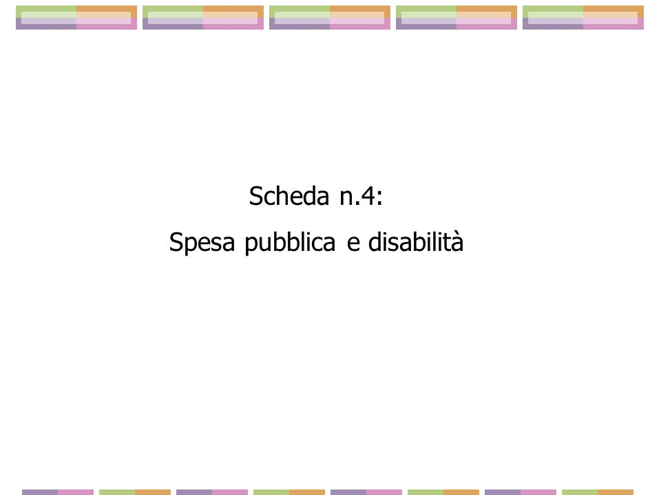 Spesa pubblica e disabilità