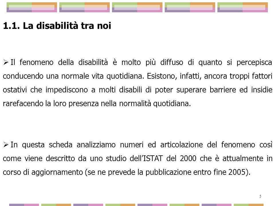 1.1. La disabilità tra noi