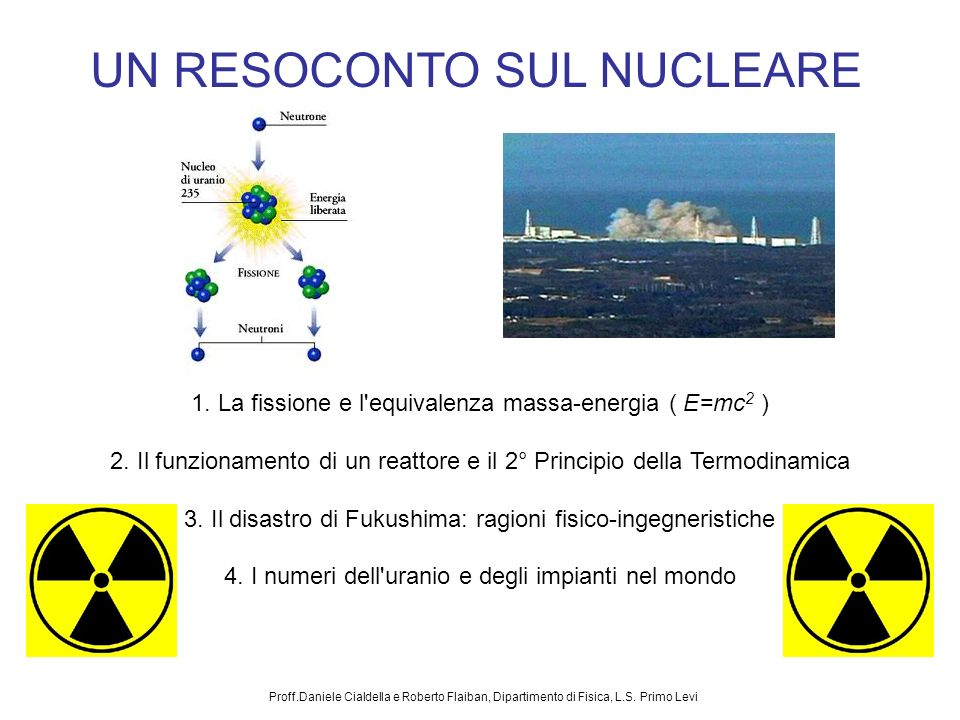 UN RESOCONTO SUL NUCLEARE