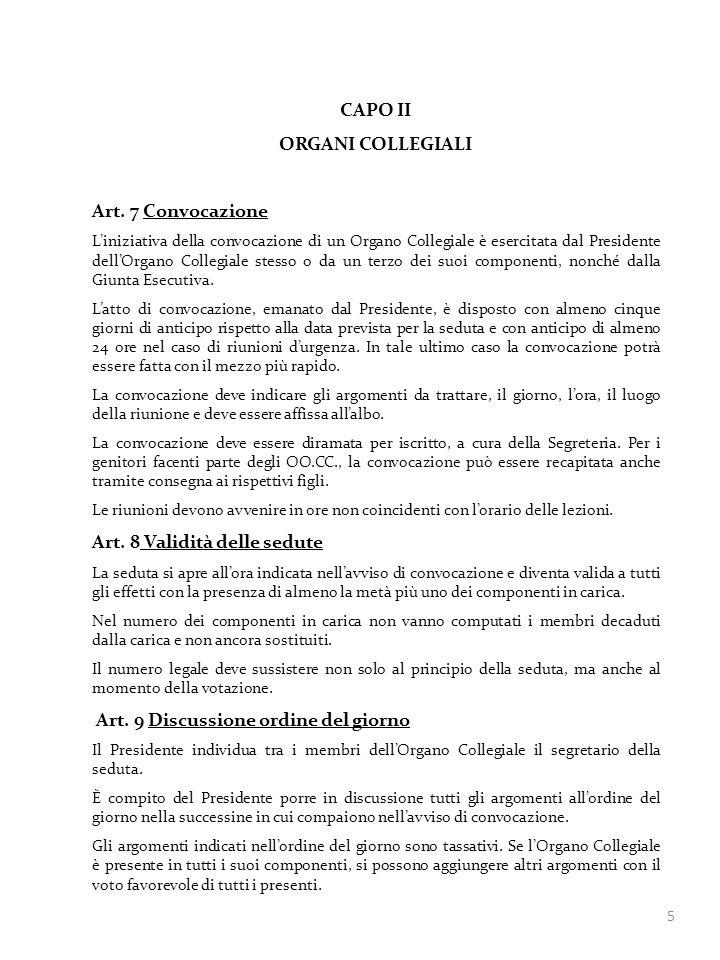 CAPO II ORGANI COLLEGIALI