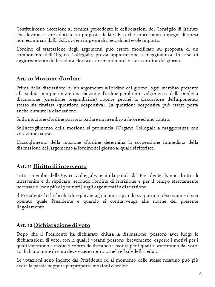 Art. 11 Diritto di intervento