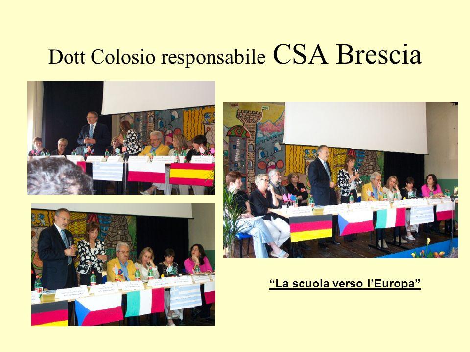 Dott Colosio responsabile CSA Brescia