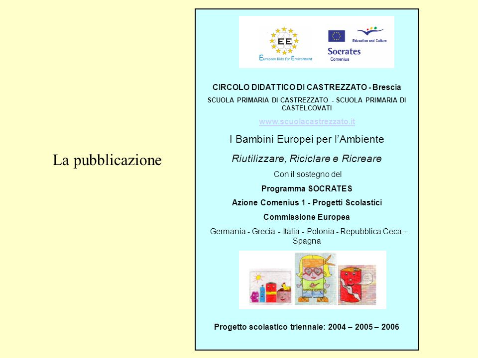 La pubblicazione I Bambini Europei per l'Ambiente