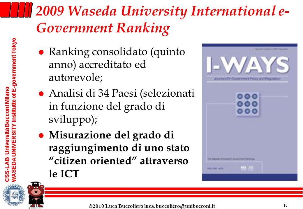2009 Waseda University International e-Government Ranking