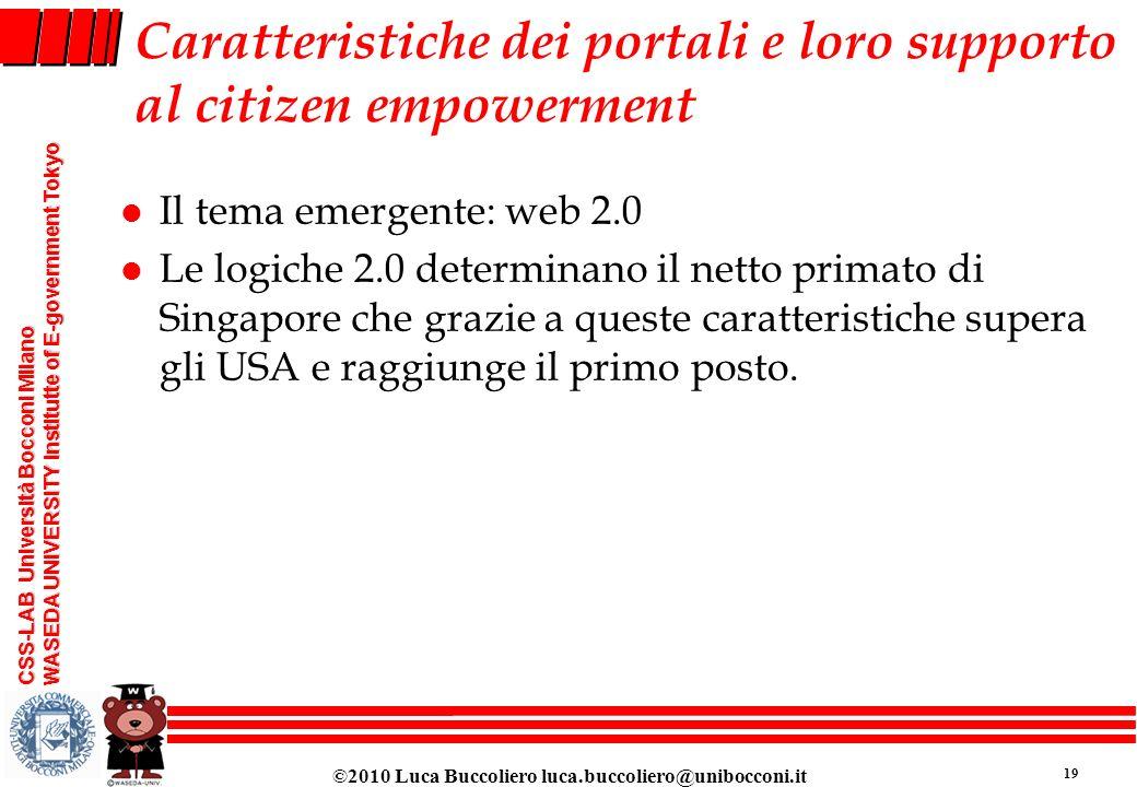 Caratteristiche dei portali e loro supporto al citizen empowerment
