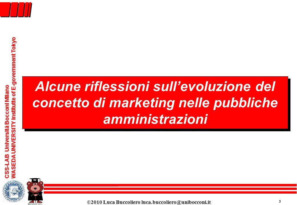 Alcune riflessioni sull'evoluzione del concetto di marketing nelle pubbliche amministrazioni