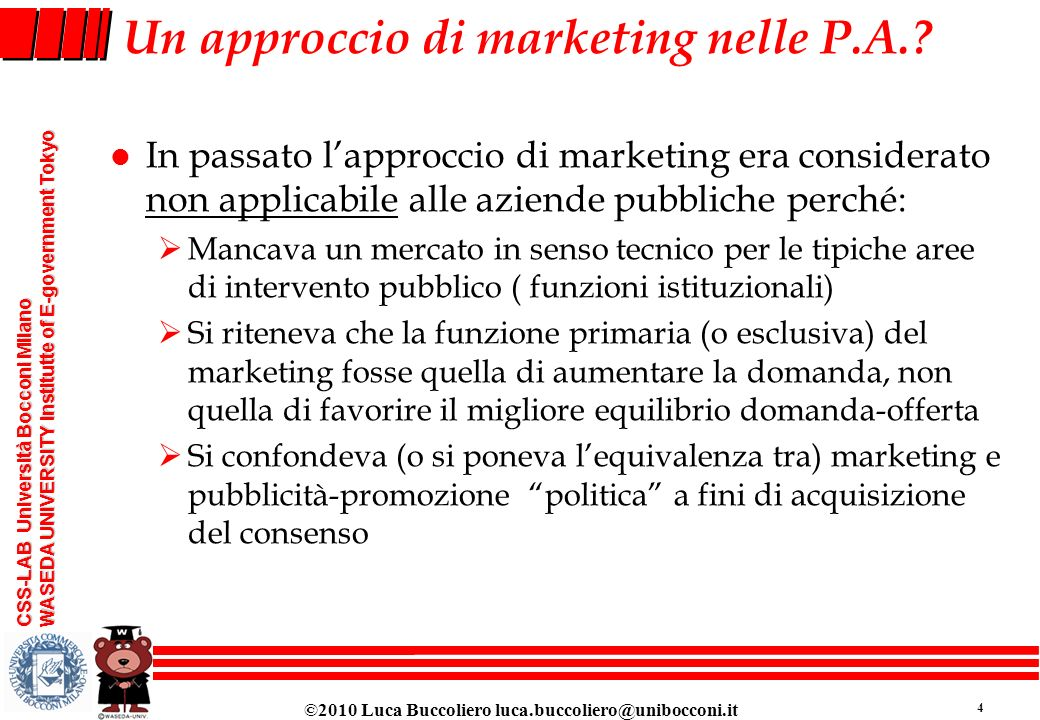 Un approccio di marketing nelle P.A.