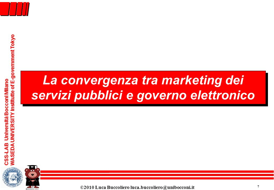 La convergenza tra marketing dei servizi pubblici e governo elettronico
