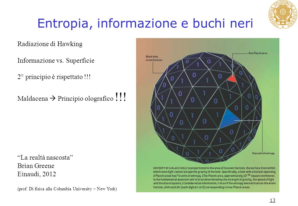 Entropia, informazione e buchi neri