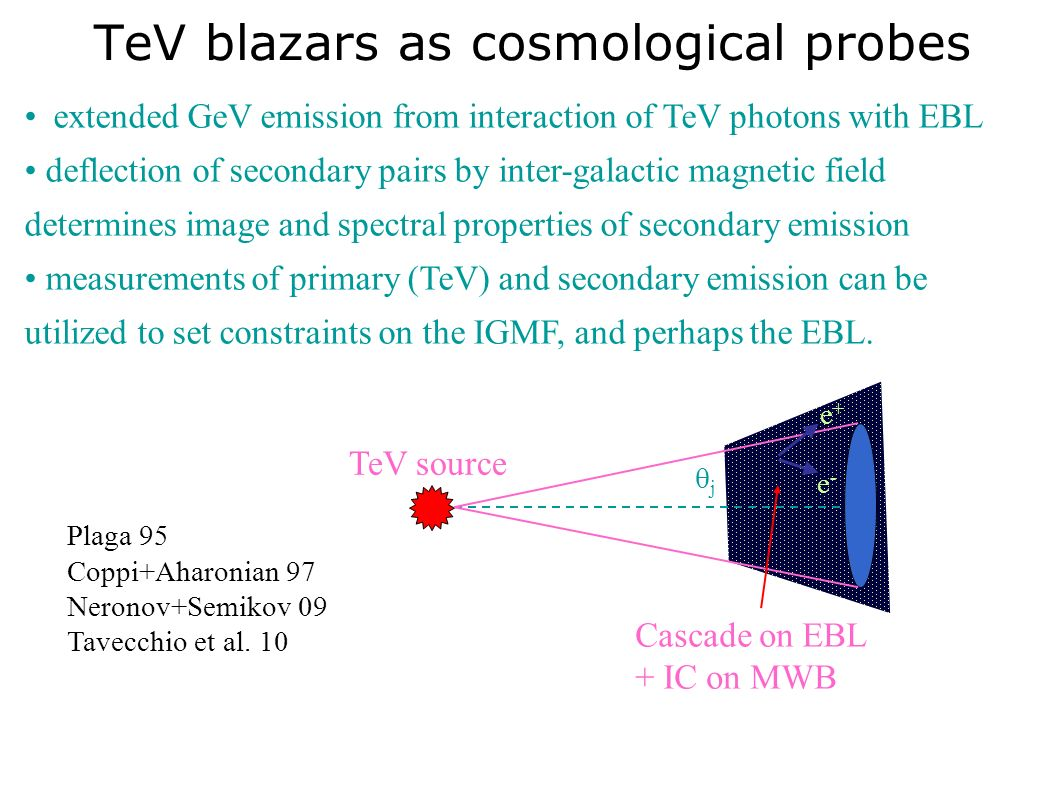 TeV blazars as cosmological probes