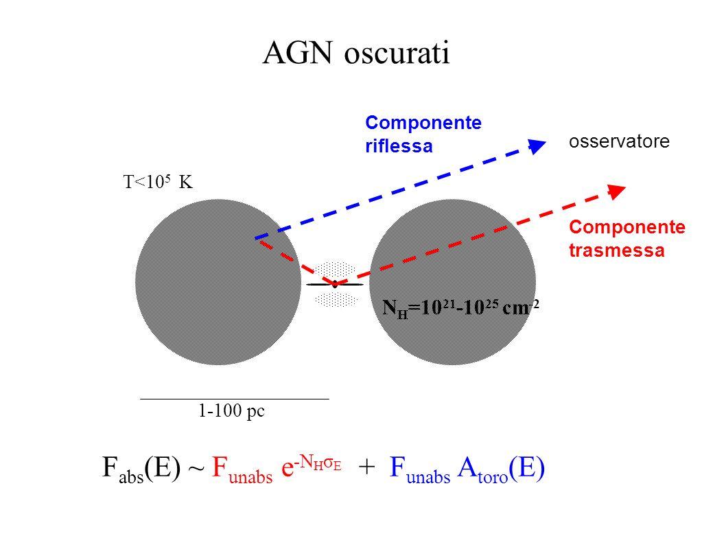 AGN oscurati Fabs(E) ~ Funabs e-NHσE + Funabs Atoro(E)