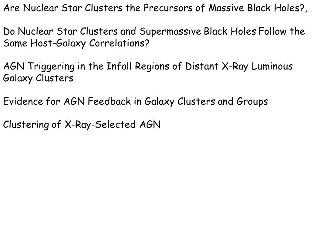 Are Nuclear Star Clusters the Precursors of Massive Black Holes ,