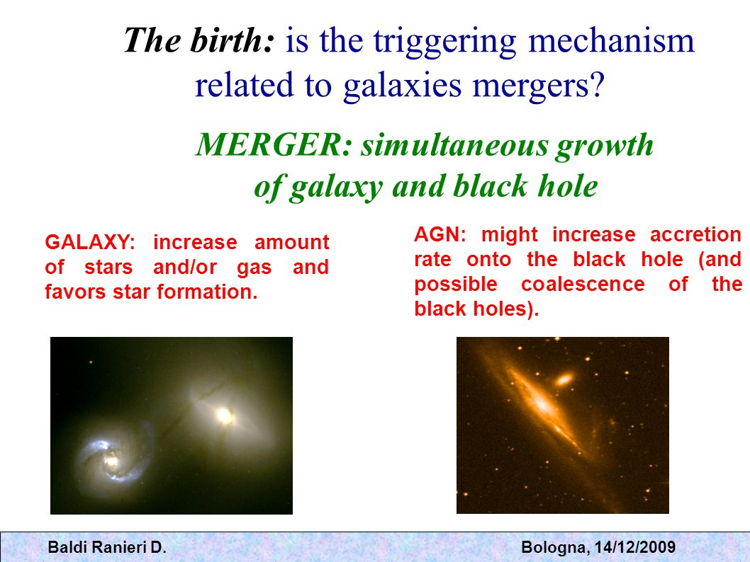 MERGER: simultaneous growth of galaxy and black hole
