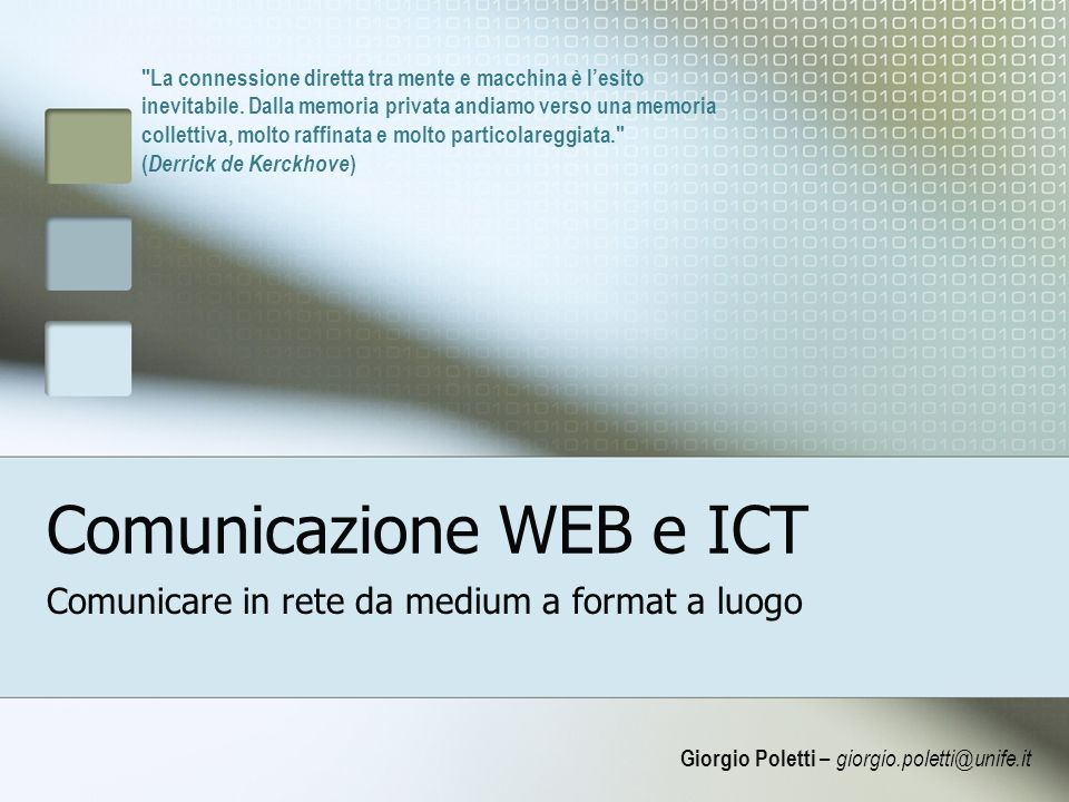 Comunicazione WEB e ICT