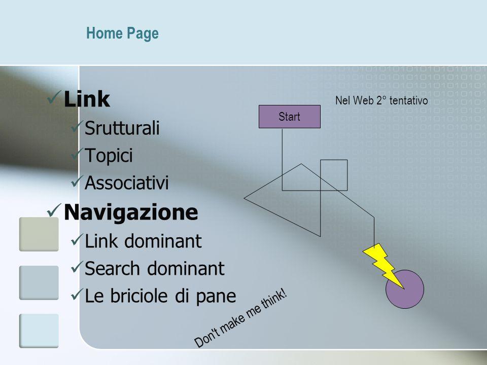 Link Navigazione Srutturali Topici Associativi Link dominant
