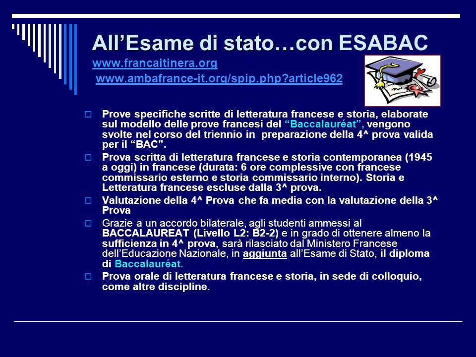All'Esame di stato…con ESABAC www. francaitinera. org www