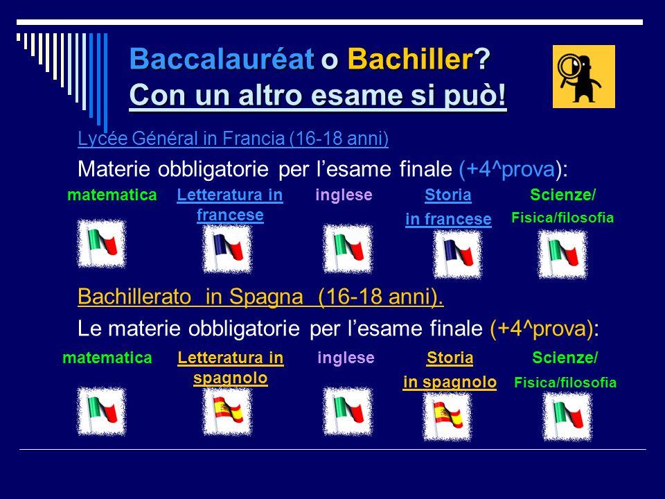 Baccalauréat o Bachiller Con un altro esame si può!