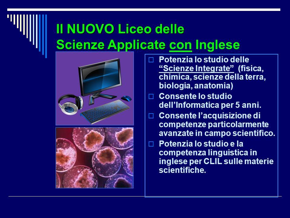 Il NUOVO Liceo delle Scienze Applicate con Inglese
