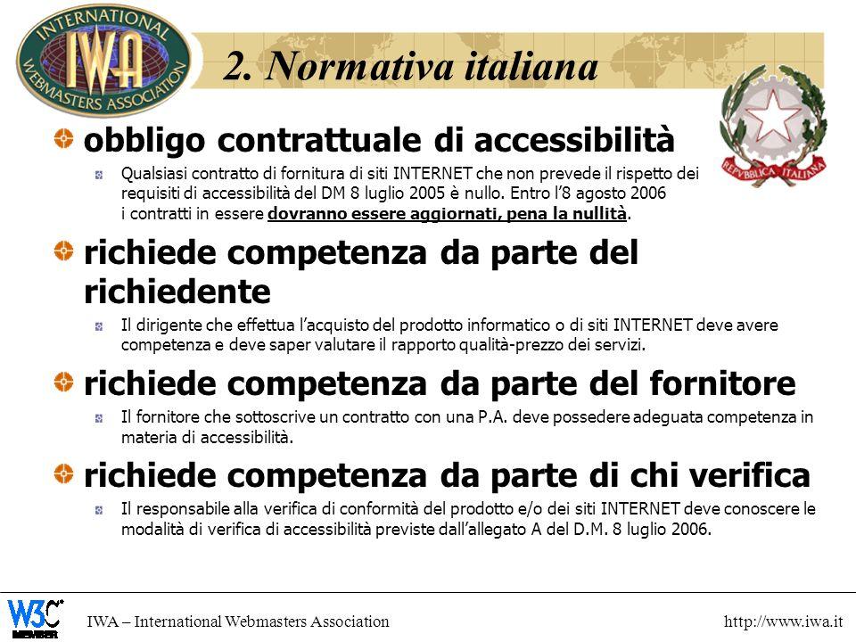 2. Normativa italiana obbligo contrattuale di accessibilità