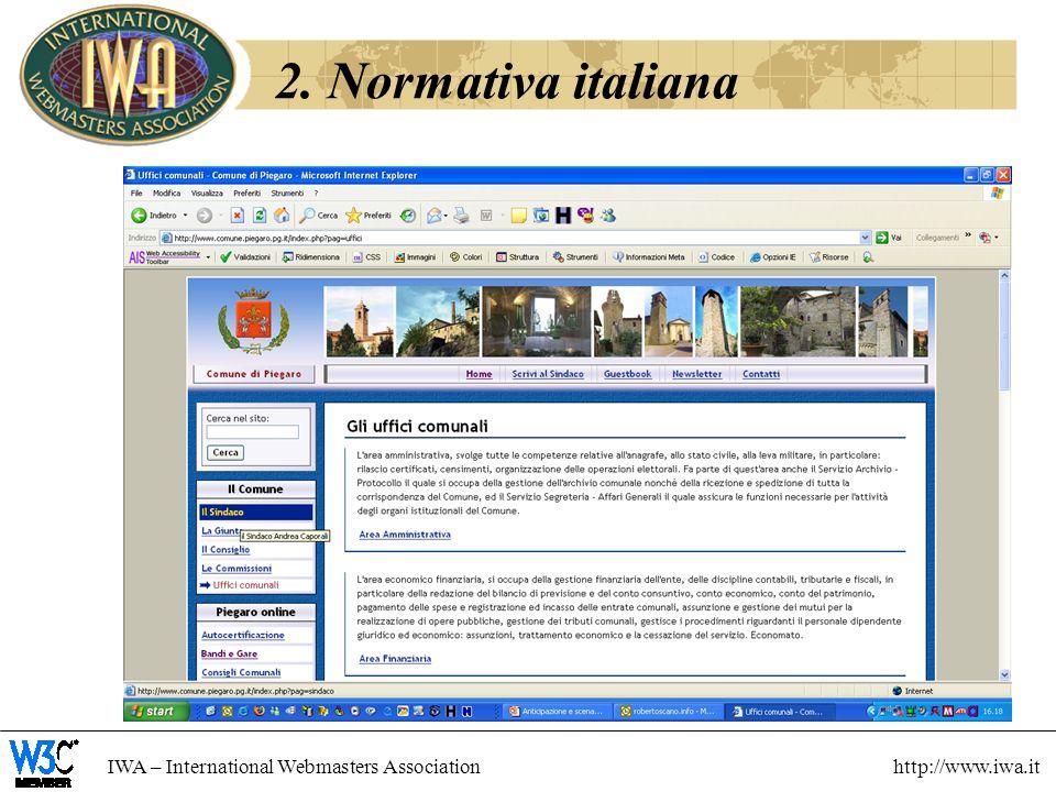 2. Normativa italiana 13