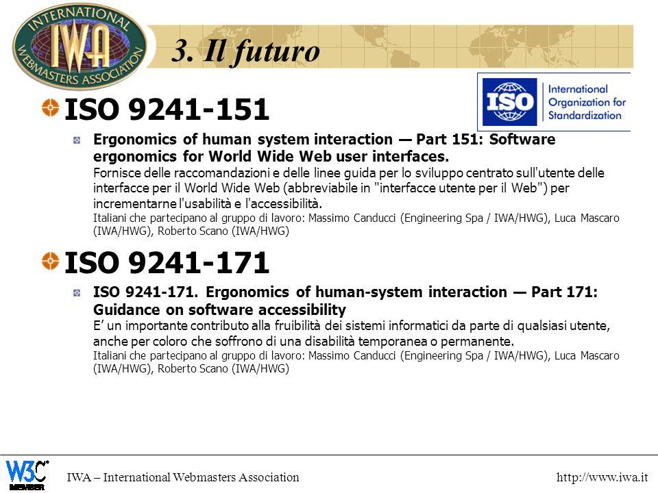 3. Il futuro ISO 9241-151.