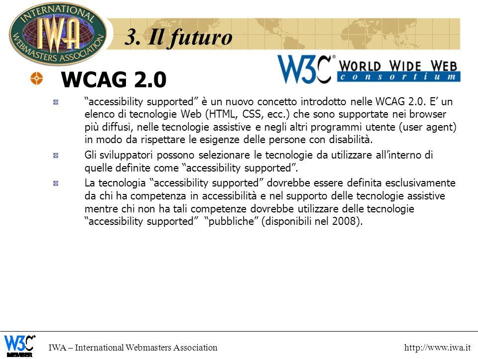 3. Il futuro WCAG 2.0.