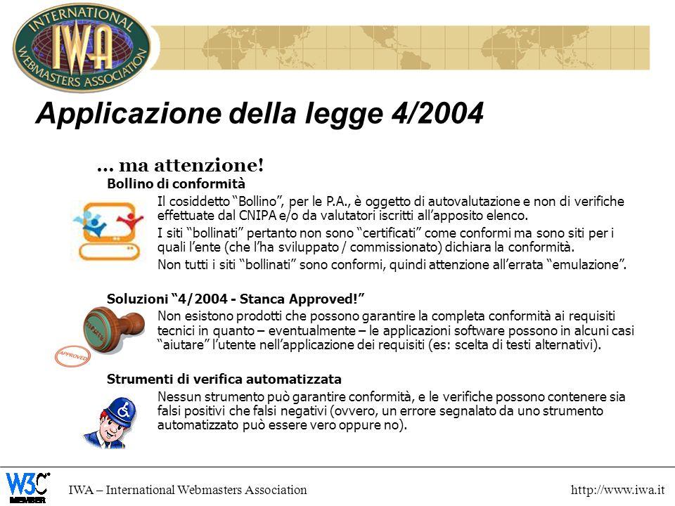 Applicazione della legge 4/2004