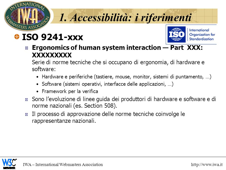 1. Accessibilità: i riferimenti