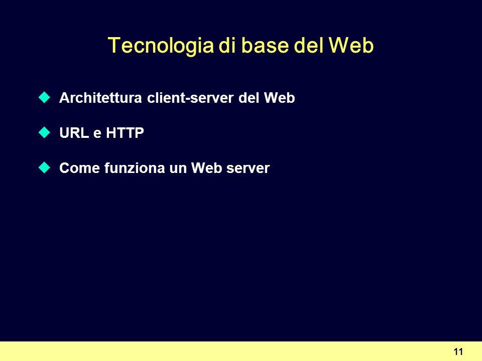 Tecnologia di base del Web