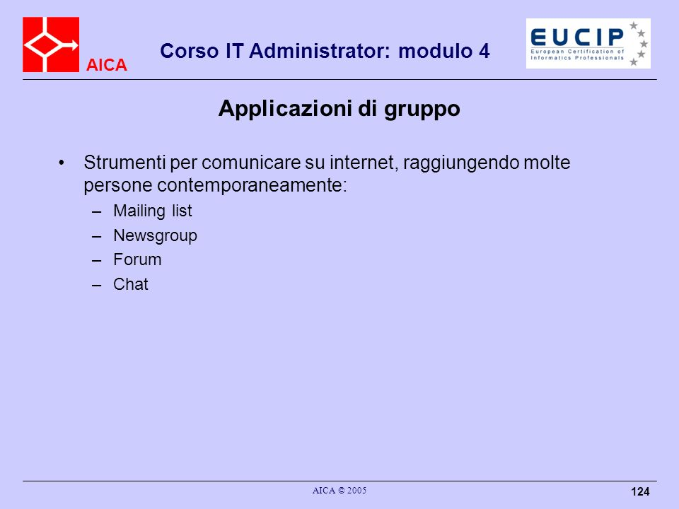Applicazioni di gruppo