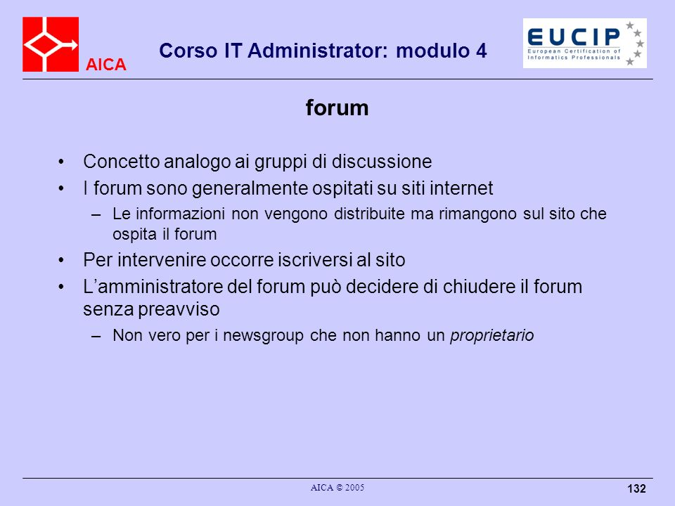 forum Concetto analogo ai gruppi di discussione