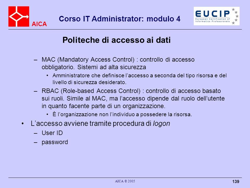 Politeche di accesso ai dati