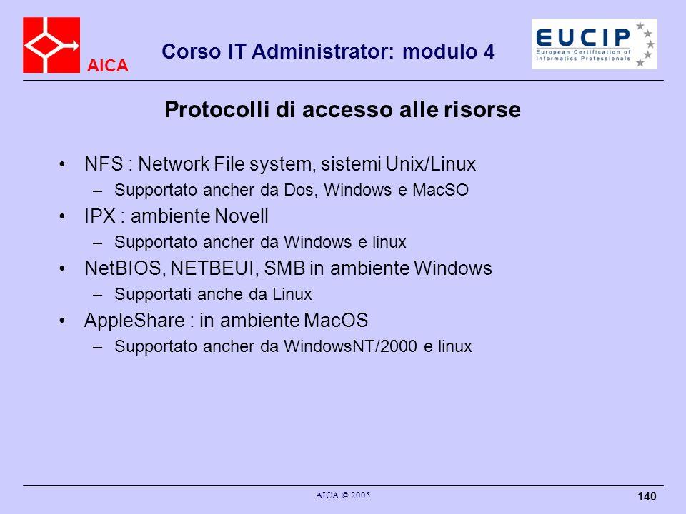 Protocolli di accesso alle risorse