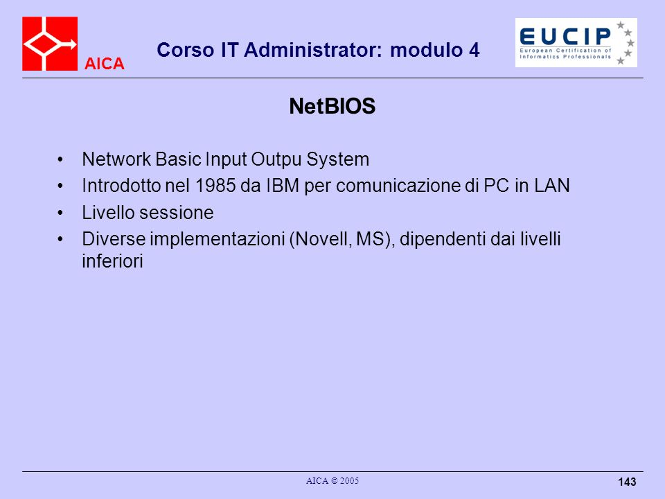NetBIOS Network Basic Input Outpu System